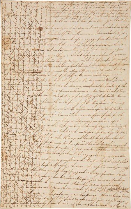 35011: Lorenzo Lyons Autograph Letter Signed.