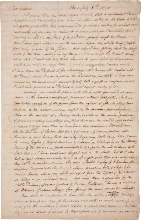35015: Rembrandt Peale Autograph Letter Signed