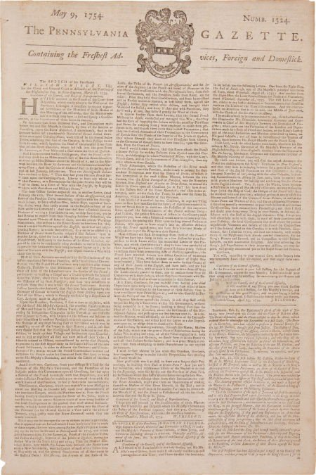 35097: [Benjamin Franklin] The Pennsylvania Gazette.