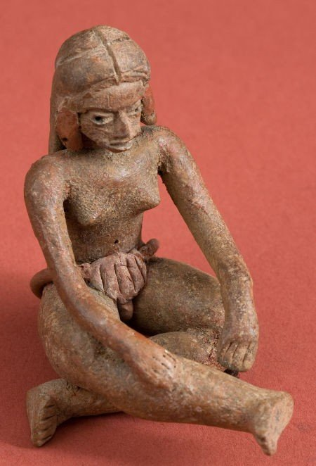 50320: Xatlitla/ Olmec Seated Female Figure