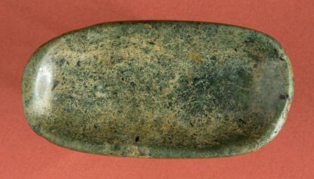 50328: Olmec Clam Shell Effigy Jadeite Shaman's Spoon