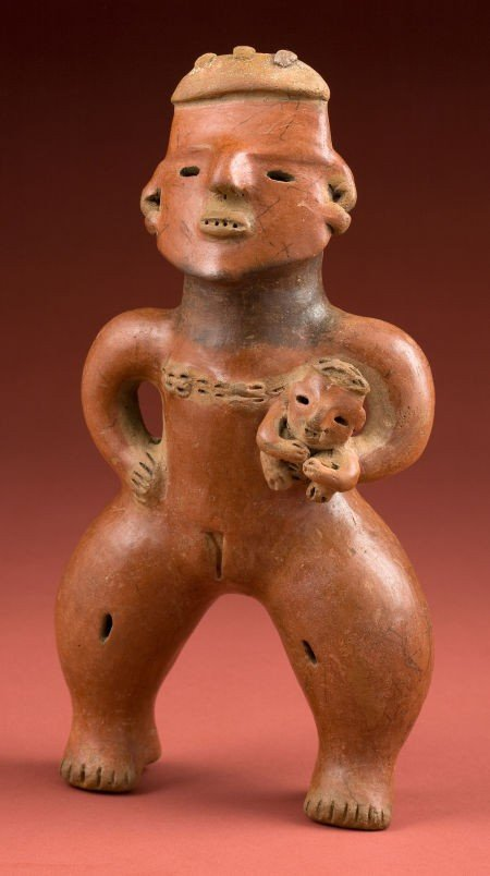 50330: Rare Large Pre-Classic Nicoya Maternity Figure