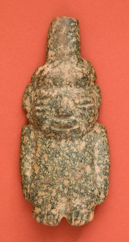 50334: Guerrero Green Stone Maize God Idol
