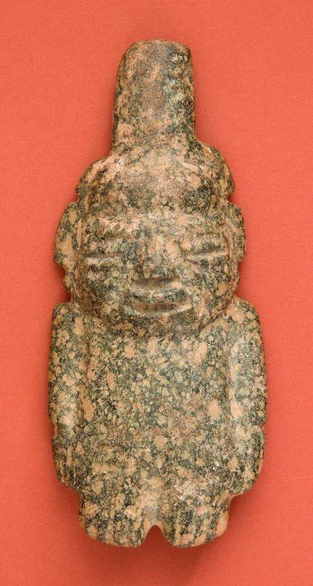 50334: Guerrero Green Stone Maize God Idol