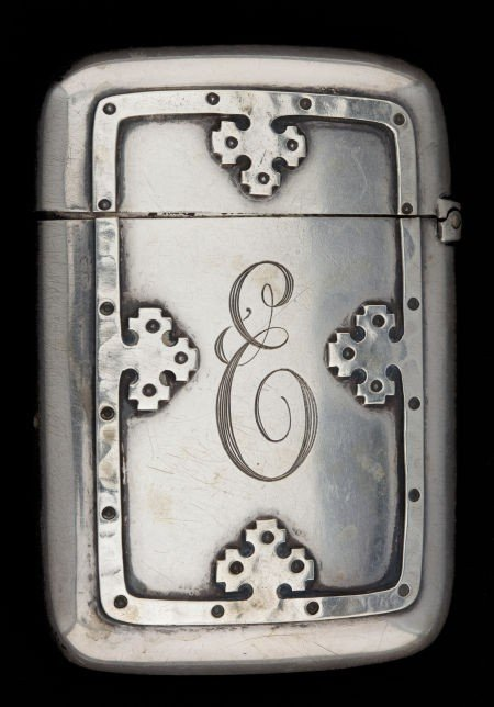 68022: A WALLACE SILVER MATCH SAFE  R. Wallace & Sons.