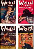 30154 Set of Weird Tales Pulps Featuring H P Lovecra