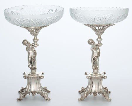 86002: Whoopi Goldberg Collection  PAIR OF SILVER-PLATE