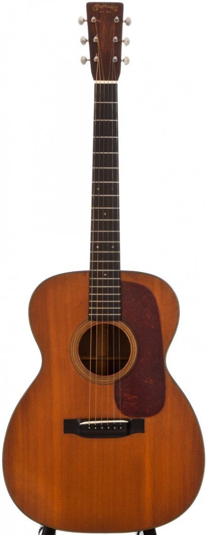 54107: 1938 Martin 000-21 Natural Acoustic Guitar, #714