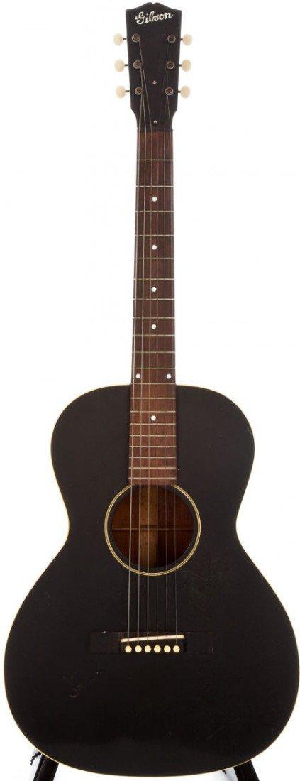 54015: 1936 Gibson L-00 Black Acoustic Guitar, #N/A.