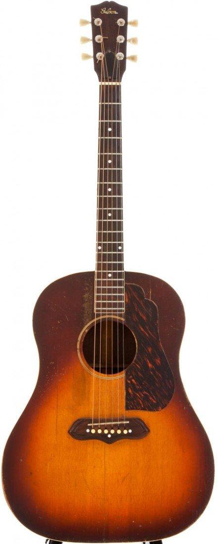 54022: Early 1940s Gibson J-55 Sunburst Acoustic Guitar
