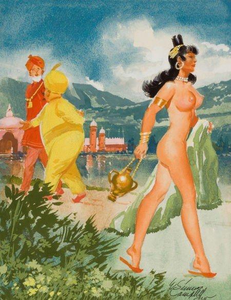 "78006: ELMER SIMMS CAMPBELL (American, 1906-1971) ""Ever"