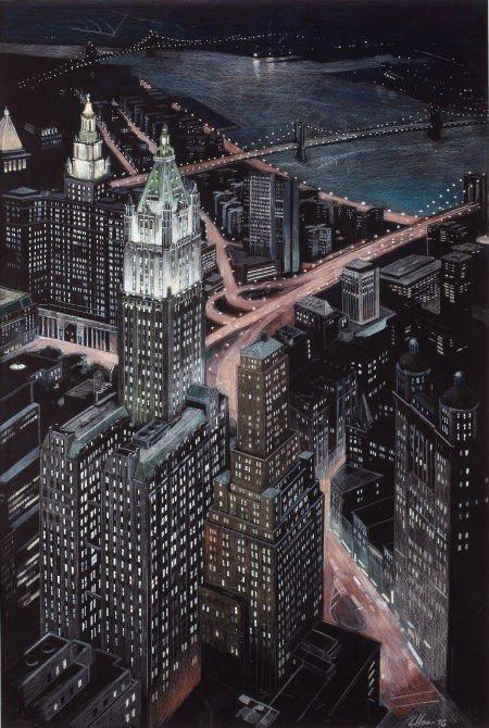 78248: RICHARD HAAS (American, b. 1936) View of the Woo