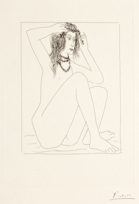 72001: PABLO PICASSO (Spanish, 1881-1973) Femme nue se