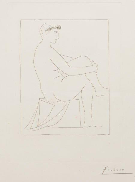 72002: PABLO PICASSO (Spanish, 1881-1973) Femme nue cou
