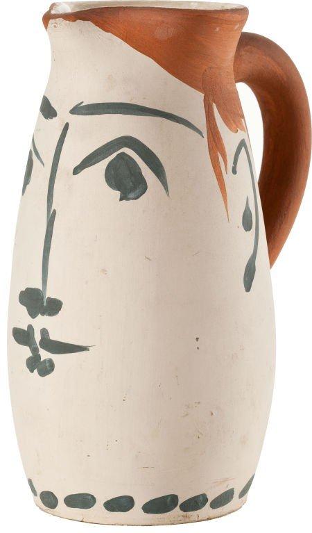 72007: PABLO PICASSO (Spanish, 1881-1973) Face tankard,