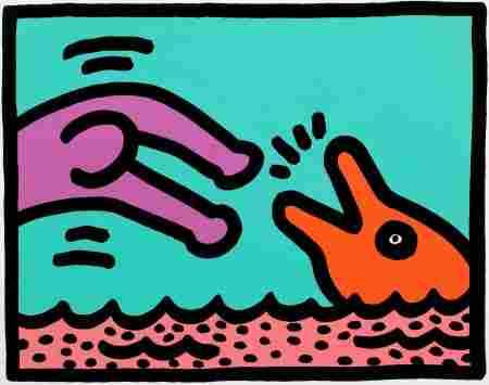 72070: KEITH HARING (American, 1958-1990) Pop Shop V (p