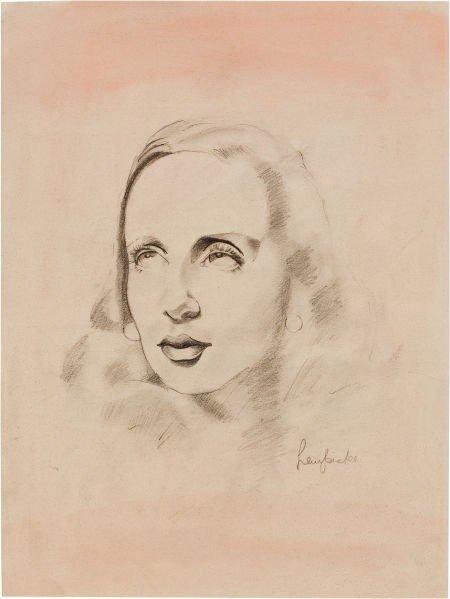 72014: TAMARA DE LEMPICKA (Polish, 1898-1980) Portrait