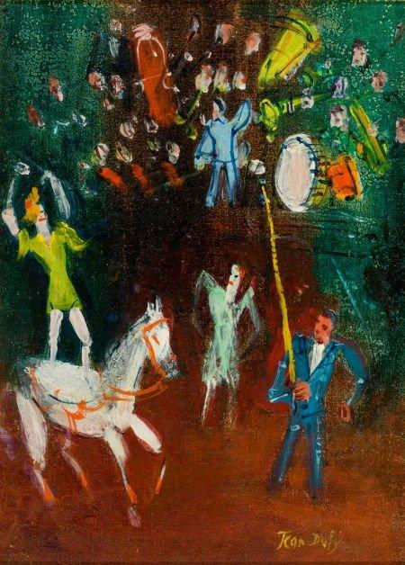 72018: JEAN DUFY (French, 1888-1964) L'Écuyère à pannea