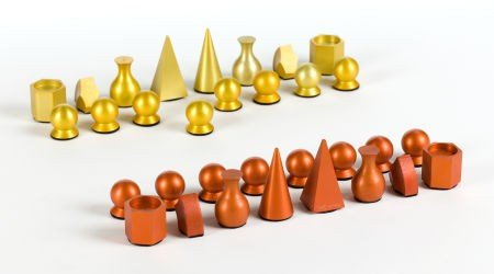 72021: MAN RAY (American, 1890-1976) Chess set (in 32 p