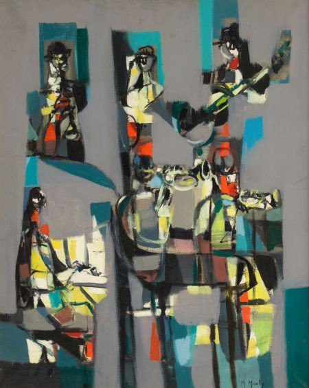 72024: MARCEL MOULY (French, 1918-2008) Abstraction wit