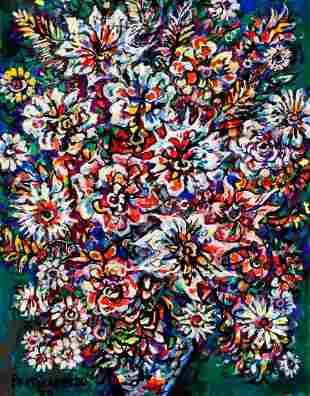 72090: RENÉ PORTOCARRERO (Cuban, 1912-1985) Flores, 197