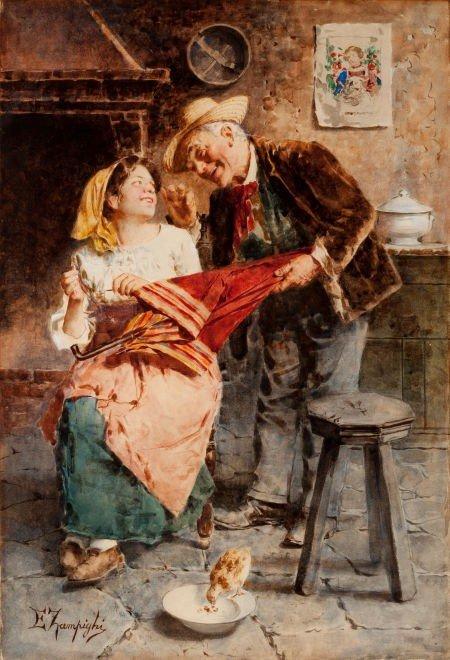 64017: EUGENIO ZAMPIGHI (Italian, 1859-1944) Follies of