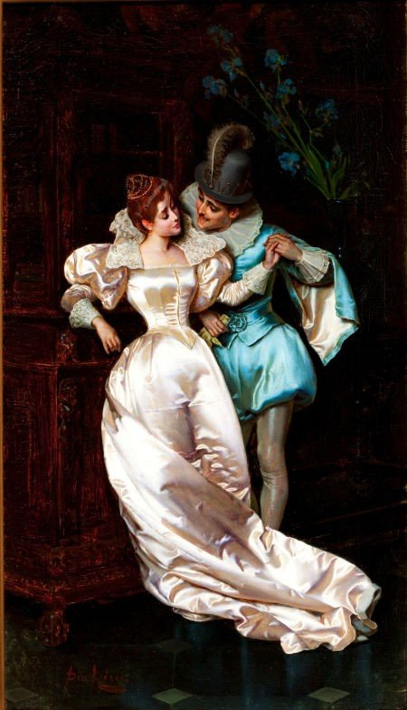 64019: PIO RICCI (Italian, 1850-1919) The Temptress Oil