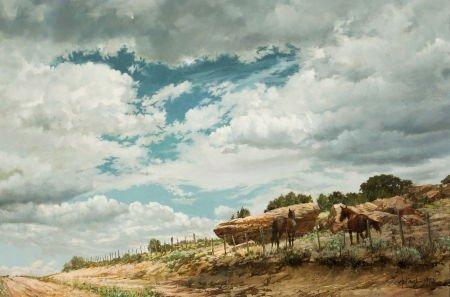 70004: CLARK HULINGS (American, 1922-2011) Landscape #2