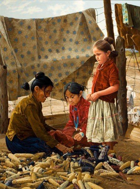 70019: RAY SWANSON (American, 1937-2004) Corn Harvest O