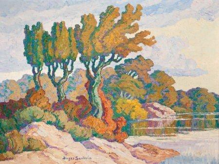 70020: BIRGER SANDZÉN (American, 1871-1954) Early Fall,