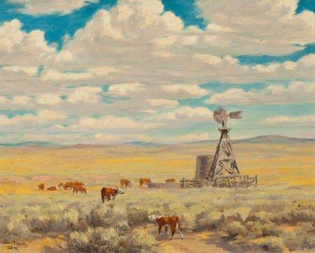 70011: GEORGE PHIPPEN (American, 1915-1966) Prairie Ski