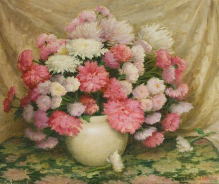 70014: JOSEPH HENRY SHARP (American, 1859-1953) Chrysan