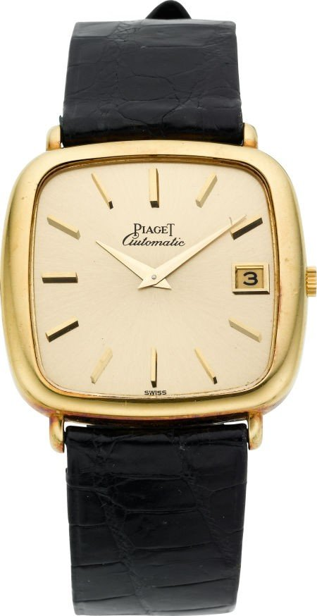 60021: Piaget 18k Gold Gent's Automatic With Date