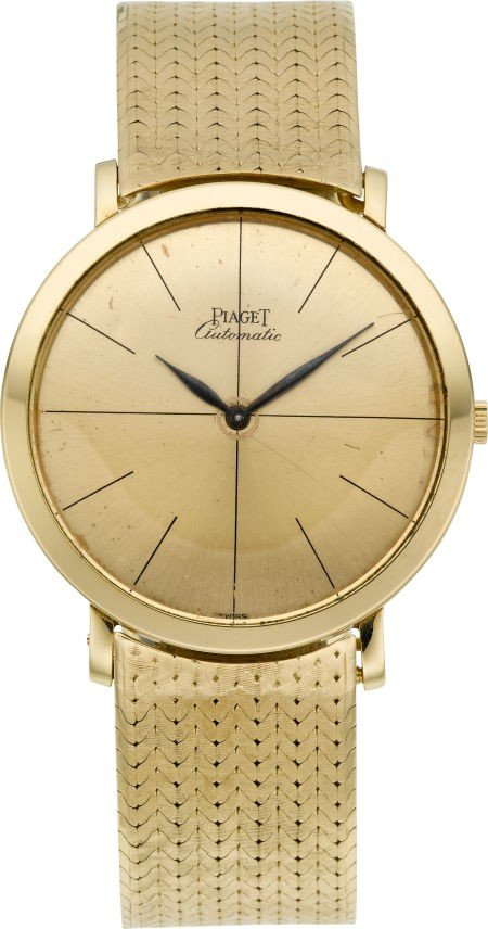 60022: Piaget Gent's Gold Microtor Self Winding Wristwa