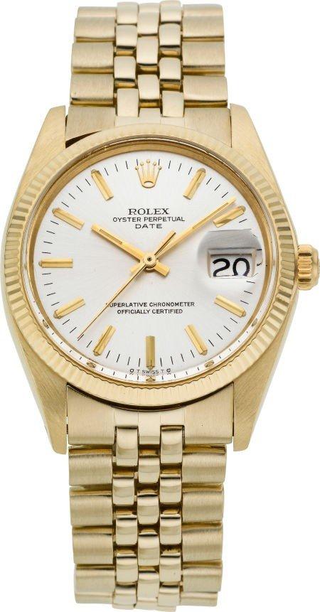 60276: Rolex Ref. 1503 Vintage 14k Gold Oyster Perpetua