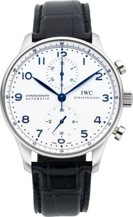 60145: International Watch Co. Steel Portuguese Automat