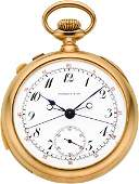 60229: Tiffany & Co. Gold Five Minute Repeater With Spl