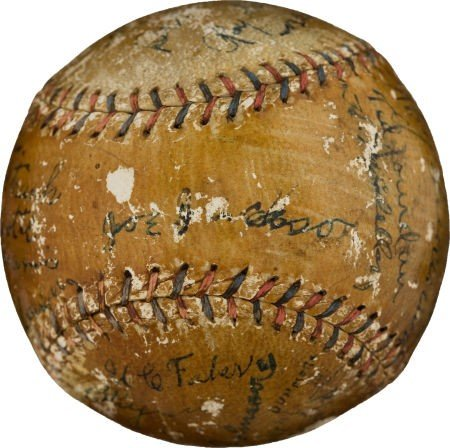 80829: 1920 Chicago White Sox Baseball with Six of The