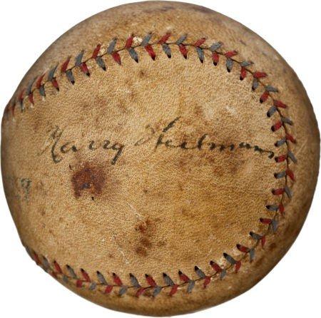 80831: 1920's Harry Heilmann Single Signed Baseball.