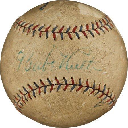 80833: Circa 1927 Babe Ruth Single Signed Baseball.