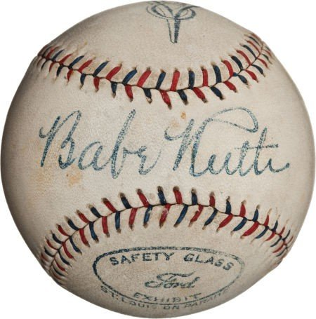80835: Circa 1928 Babe Ruth Single Signed Baseball.