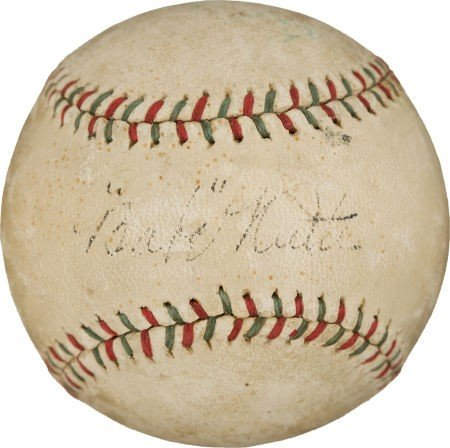 80837: Late 1920's Babe Ruth Signed Baseball.
