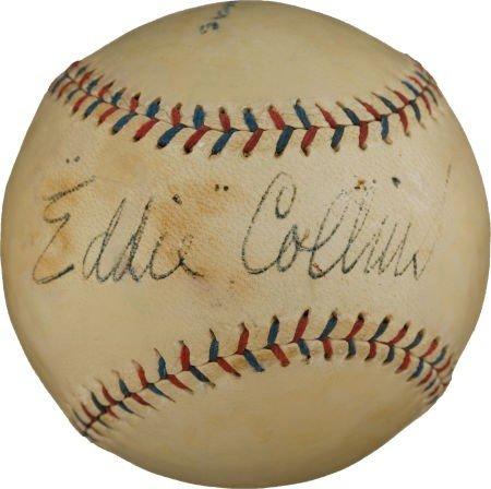 80838: Late 1920's Eddie Collins Signed Baseball.