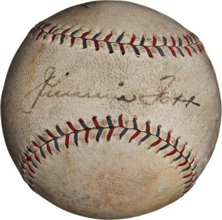 80839: 1929 Jimmie Foxx Signed Baseball.