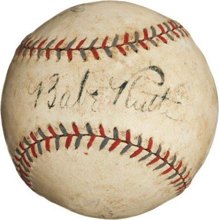 80840: 1929-31 Babe Ruth Single Signed Baseball.