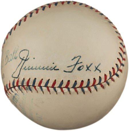 80841: Circa 1930 Jimmie Foxx Signed Baseball.