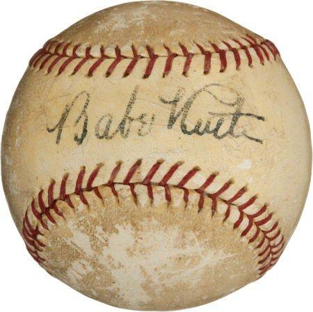 80843: Circa 1930 Babe Ruth Single Signed Baseball.