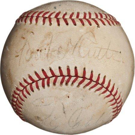 80845: Circa 1930 Babe Ruth, Ty Cobb & Tris Speaker Sig