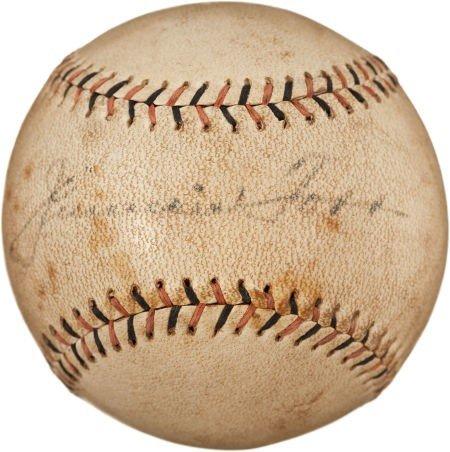 80846: Circa 1930 Jimmie Foxx Single Signed Baseball.