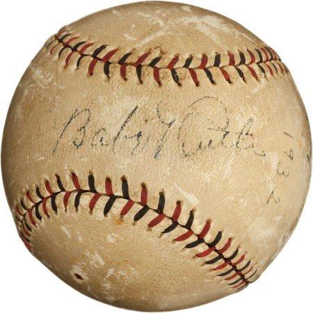 80847: 1932 Babe Ruth & Lou Gehrig Signed Baseball Foul